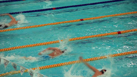 start competitive swimming Footage