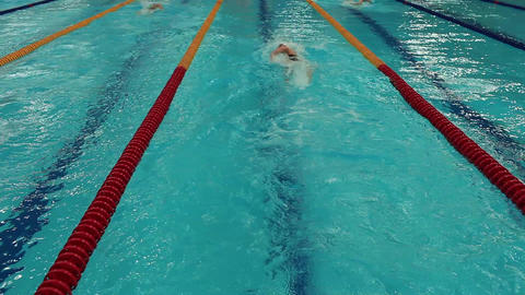 turn competitive swimming Footage