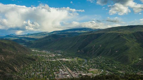 Landscape view of Glenwood Springs Footage