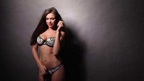 Woman in lingerie Footage