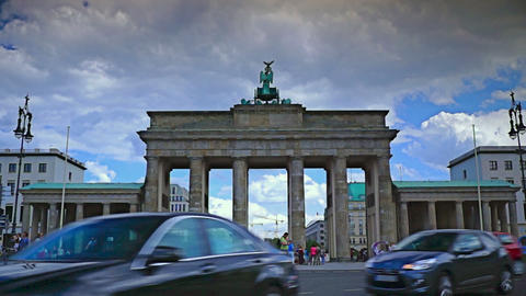 The Brandenburg Gate ( Brandenburger Tor), attract Footage