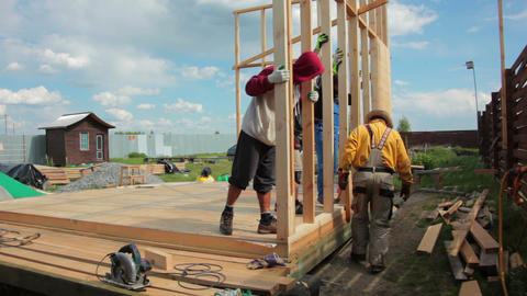 Building of a Framework House Footage