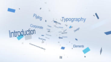 Flying Typography Logo - Apple Motion and Final Cut Pro X Template Apple Motion Template