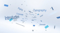 Flying Typography Logo - Apple Motion and Final Cut Pro X Template Apple Motionテンプレート