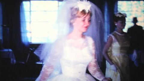 Bride Dancing With Her Bridesmaids 1966 Vintage Footage