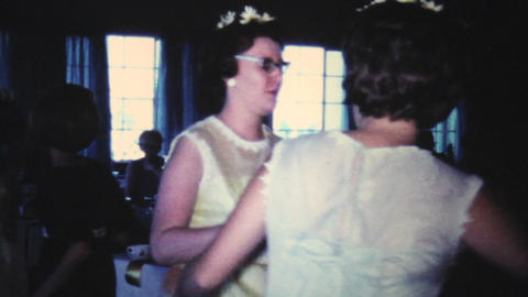 Groomsmen And Bridal Party Dancing At Wedding 1966 Footage