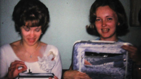 New Luggage At Bridal Shower Party 1967 Vintage Footage