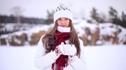 Winter Girl. Tea Footage
