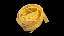 Pasta Egg Noodle Isolated stock footage