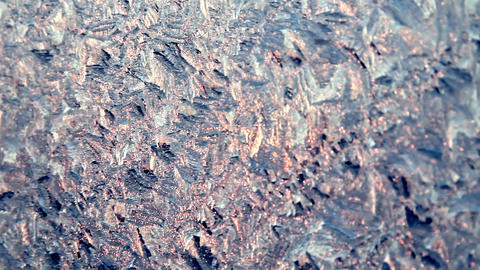 Frosty Pattern Depth Of Field stock footage