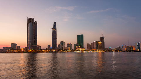 HCMC City Sunset timelapse Animation