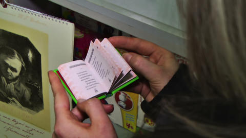 Book in Hands Footage