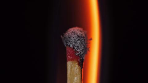 Burning match head Footage