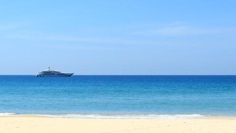 Tropical sand beach of Phang Nga Thailand Footage