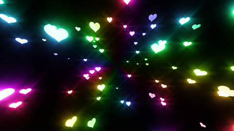 Sparkle Heart Particles LB 2 HD Animation