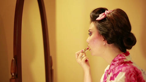 Make up of Japanese geisha Footage