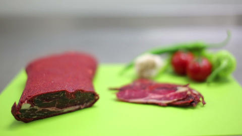 Traditional Cold Meats stock footage