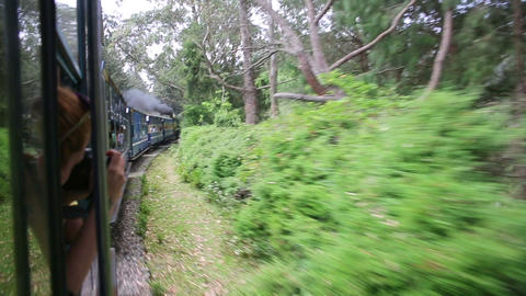 historical steam-powered train, ooty Footage