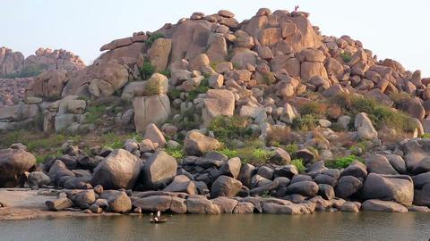 Majestic boulder rocks Footage