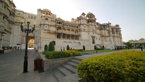 Courtyard at City Palace, Udaipur Footage