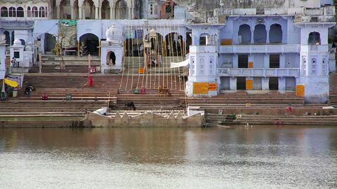 View of Pushkar, Rajasthan, India Footage