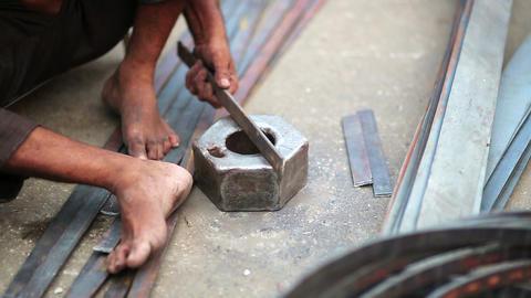 Local craftsman at work Footage