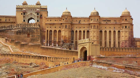View of Amber Fort Footage