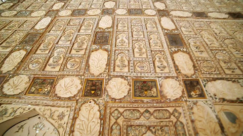 Interior of Amber Fort Stock Video Footage