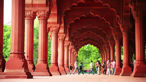 Visitors at Red Fort Footage