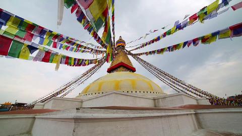 Symbol of Nepal, Buddha's Eyes in Kathmandu Footage