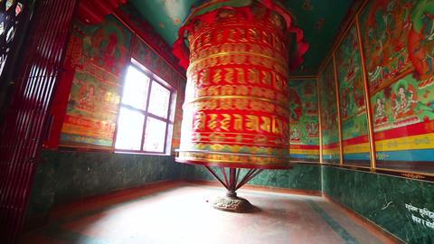 Prayer wheel at Boudhanath, Kathmandu, Nepal Footage