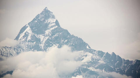 machapuchare summit, annapurna view from pokhara Footage
