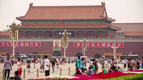View of Tiananmen Square Footage