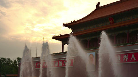 Fountain at Forbidden City, Beijing Footage