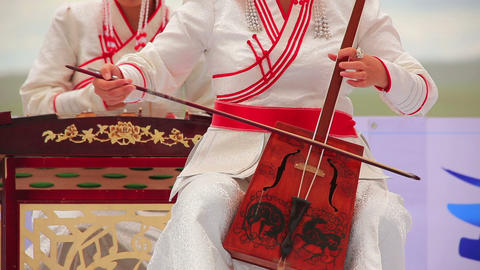 Morin Khuur, Mongolian bowed stringed instrument Footage