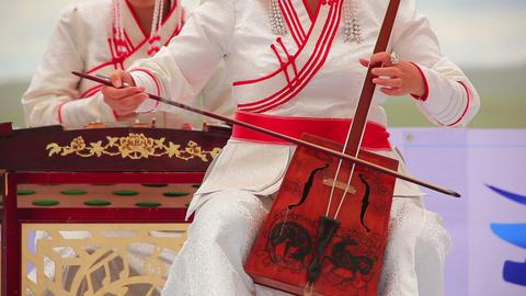 Morin Khuur, Mongolian bowed stringed instrument Footage