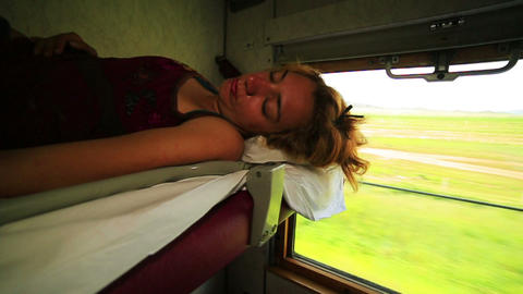 Trans Siberian train journey Footage