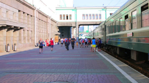 Trans Siberian train station, Novosibirsk Footage