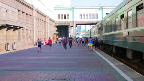 Trans Siberian train station, Novosibirsk Footage