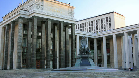 Russian State Library, Moscow stock footage