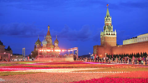 Saint Basil's Cathedral, Moscow, Russia Footage