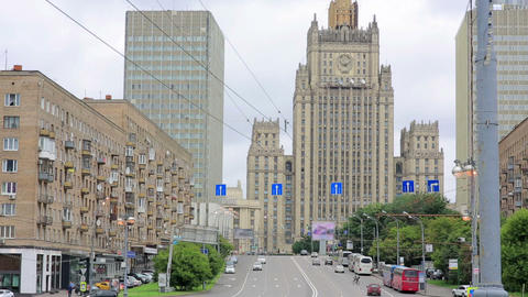 Daily life and traffic in Moscow Footage