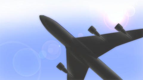 Airplane stock footage