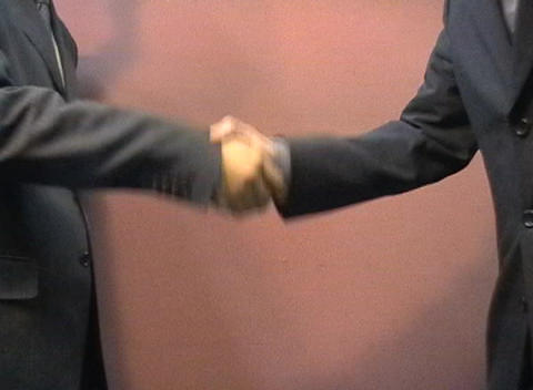 Shakehands stock footage