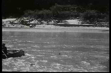 An Early Movie Depicts Life Along The Colorado Riv stock footage