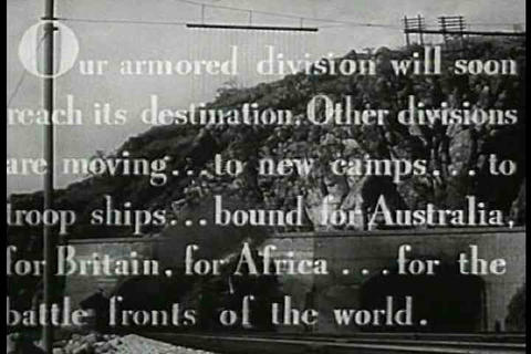 Troop Trains Head Across America In 1943 As Soldie stock footage