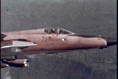 Air Force fighter jets in action in the Vietnam Wa Footage