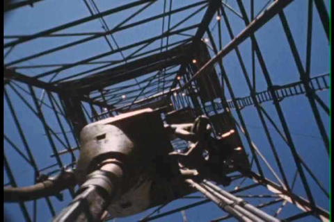 Oil drilling in this classic film about exploratio Footage
