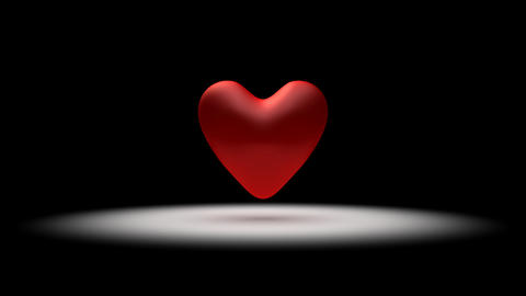 Big, red pulsing heart Animation