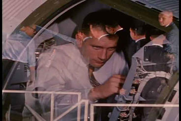 Early Astronauts Undergo Training And Get Familiar stock footage
